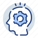 creativity, idea, lightbulb, think, thinking, thoughts icon