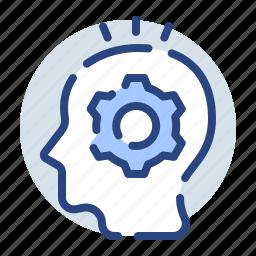 creativity, idea, lightbulb, think, thinking, thoughts icon