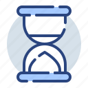 business, clock, finance, sand clock, time, wait icon