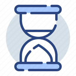 business, clock, finance, sand clock, time, wait icon