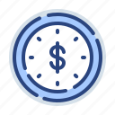 bank, is, money, payment, time, timer, watch icon