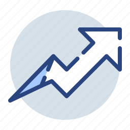 chart, diagram, growth, report, trend, up icon