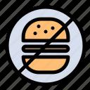 burger, eat, healthcare, no