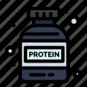 bottle, gym, protein
