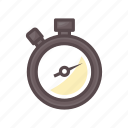 fitness, gym, run, stopwatch, timer icon