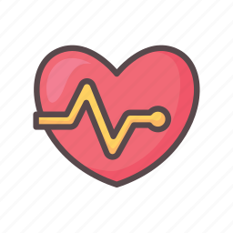 fitness, gym, heart, heartbeat, love icon