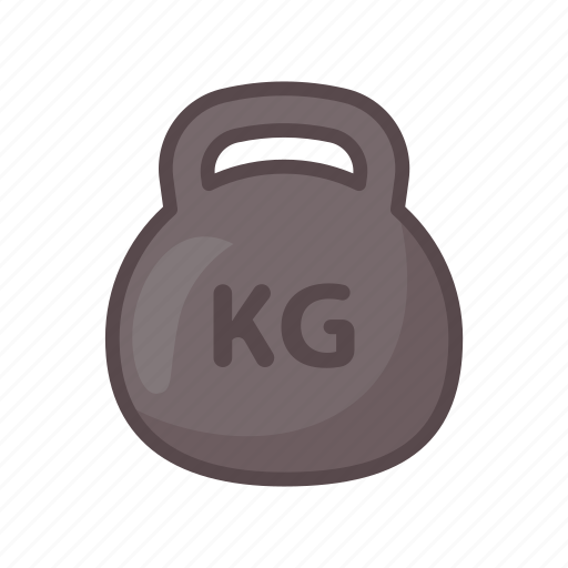 fitness, gym, kettlebell, training, weighlift icon
