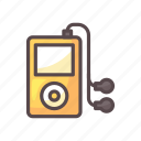 fitness, gym, music, music player, song icon