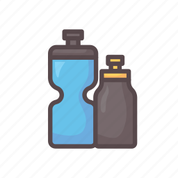 bottle, drink, fitness, gym, water icon