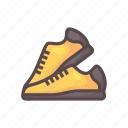 fitness, gym, run, shoes icon