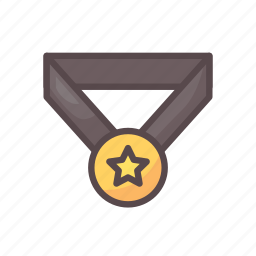 award, fitness, gym, medal, reward, star icon