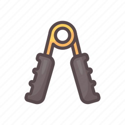 fitness, gym, hand grips, training icon