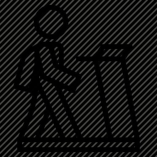 health, trademill, walk, walking icon