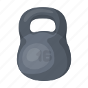 equipment, inventory, sport, weight icon