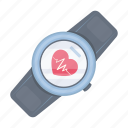 measurement, pulse, timer, watch, wrist icon