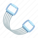 equipment, exercise, expander, spring, stretching icon
