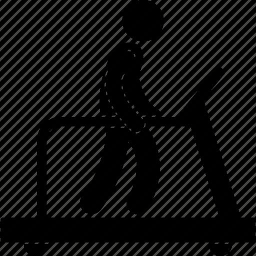 cardio, equipment, exercising, gym, man, walking, workout icon