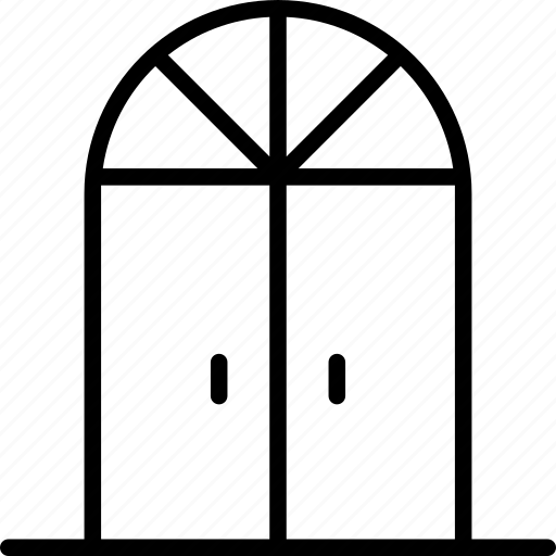 door, doorway, double, french, front, parade, visitors icon