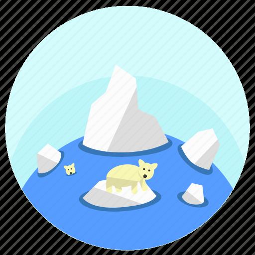 arctic, cold, north, polar, polar bear icon