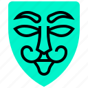 hack, hacker, mask, thief, virus icon