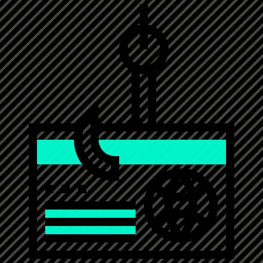 data, file, hacker, phishing, virus icon