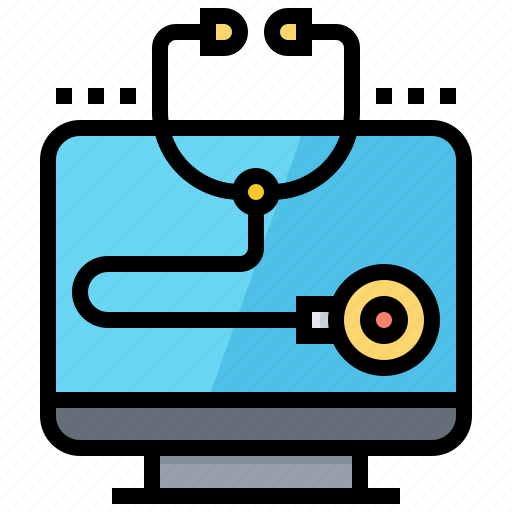 Computer, diagnostic, healthcare, scan, stethoscope icon - Download on Iconfinder