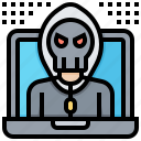 brute, computer, force, hacking, virus icon