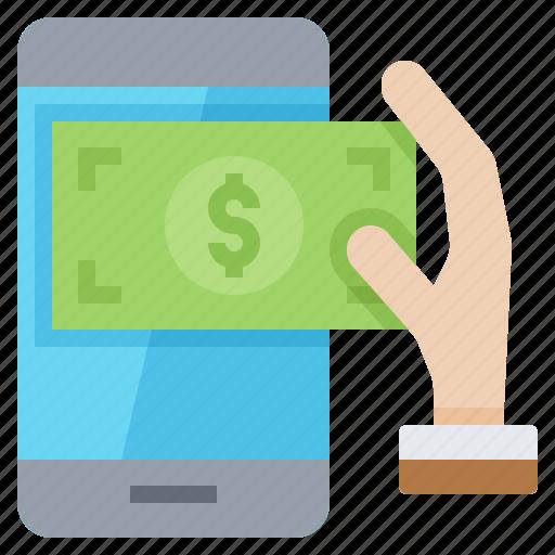 banking, crime, hack, money, online icon