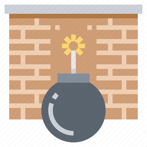 attack, bomb, ddss, firewall, protection icon