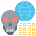 code, data, error, hack, virus icon