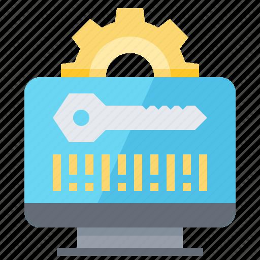 access, code, computer, data, key icon