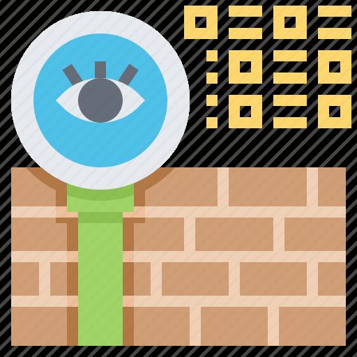 data, hacking, protection, spyware, virus icon
