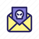 email, envelope, hacker, hacking mail, message icon