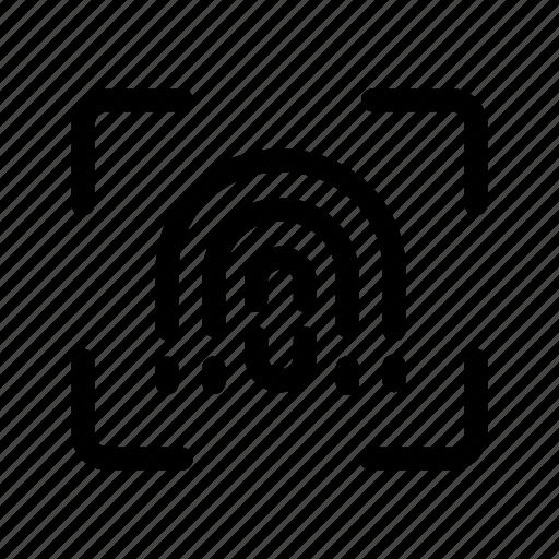 checking, fingerprint, hacker, scanning icon