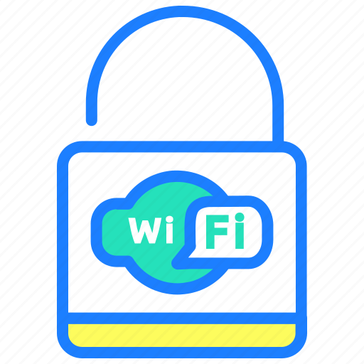 lock, password, protected, security, wifi, wireless icon