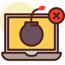 bomb, deadline, laptop, timeline icon