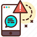 chat, encrypted, encryption, message, secured, warning icon
