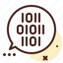 chat, code, decode, encrypted, message, secured icon