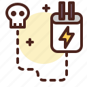 blackout, electricity, power, shutdown icon
