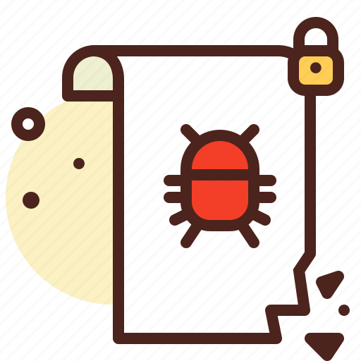 bug, document, file, insect, insecure, virus icon