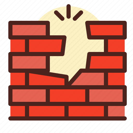 brick, construction, firewall, wall icon
