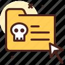 crack, death, folder, skull