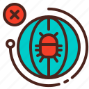 bug, earth, globe, infection, virus icon