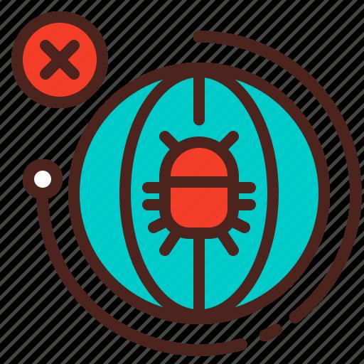 bug, earth, globe, infection, virus icon