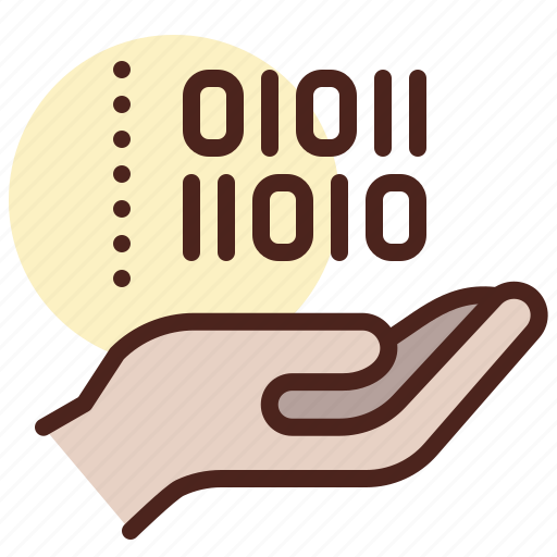 chat, code, decode, encrypted, hand, message, secured icon