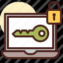 debug, key, laptop, pass, password, pasword, secureded icon
