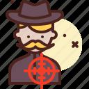 assasination, dead, kill, sniper, target icon