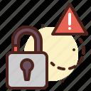 lock, secured, unlock, warn