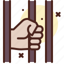 arrest, fence, prison, prisoner icon