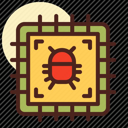 bug, hardware, heat, processor, virus icon
